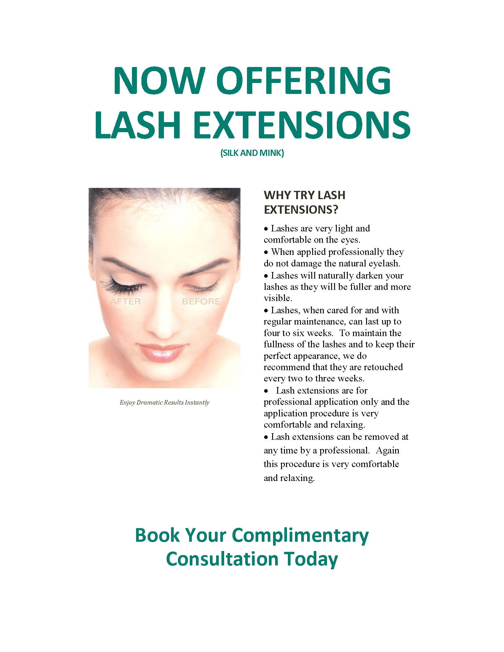 Now Offering Lash Extensions